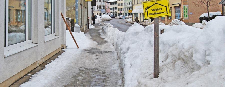 Winter Räumpflicht Streupflicht Vermieter